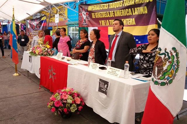 Realizan en Puebla jornada de apoyo a Venezuela