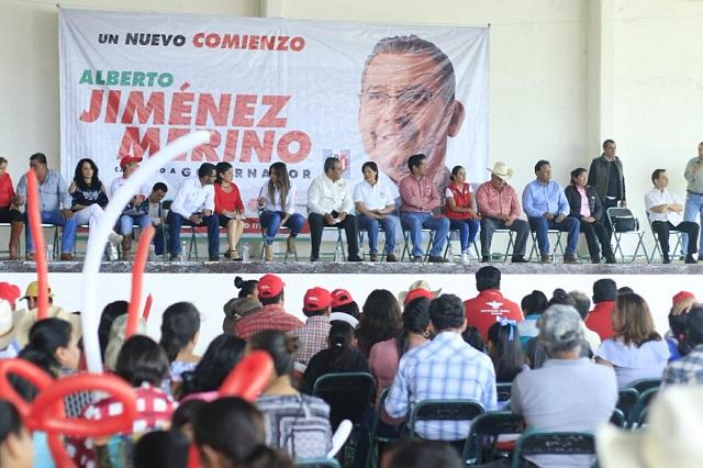 No empecé campaña apenas; llevo 27 años de labor: Jiménez Merino