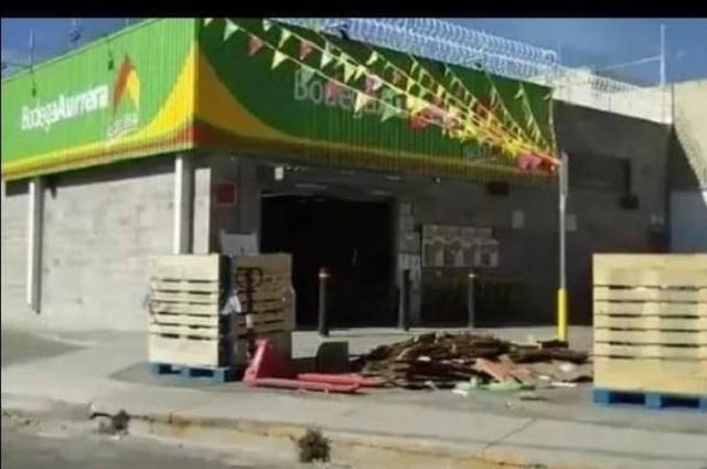 Con boquete en Aurrera Express roban 60 mil pesos en Texmelucan