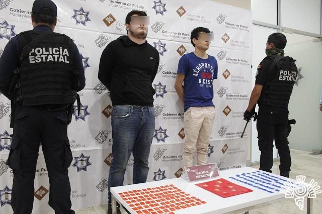 Caen veracruzanos que vendían droga en Angelópolis