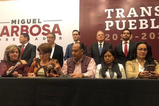 Arma Barbosa equipo de transición para cambiar gobierno