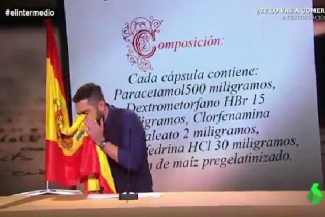 Juez cita a humorista que se sonó la nariz con la bandera de España