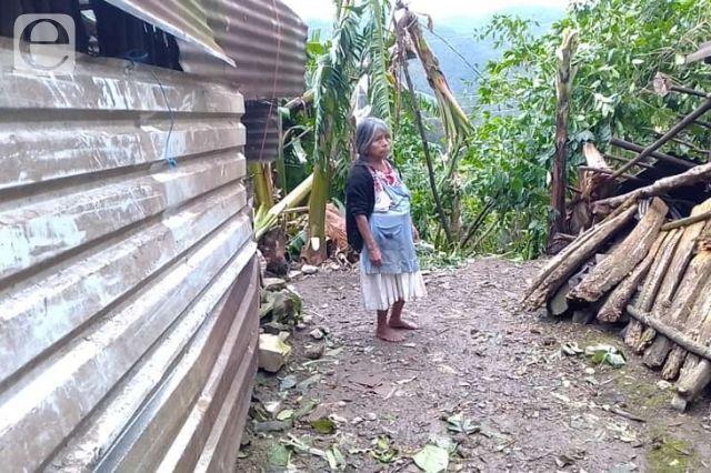 Sufren daños viviendas en Olintla por huracán Grace