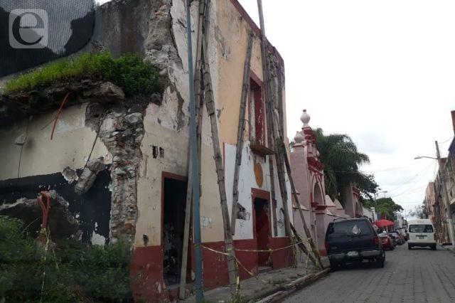 Acordonan inmuebles de riesgo en Atlixco tras sismo del martes