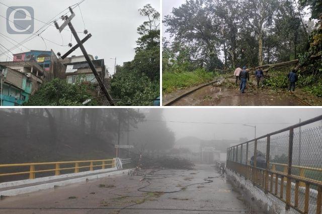Sin atender afectaciones en Juan Galindo por huracán Grace