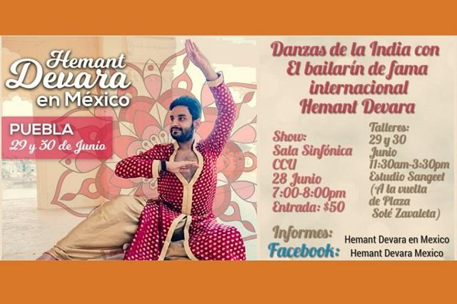 Danza de la India con Hemant Devara en el CCU este 28 de junio
