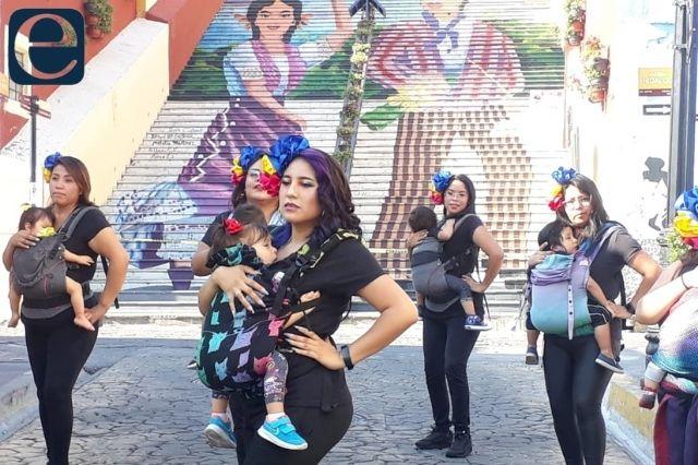 En Atlixco madres danzan con bebés para promocional nacional