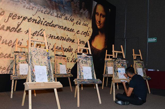 La muestra Da Vinci, la exposición, se presenta en la Feria de Puebla