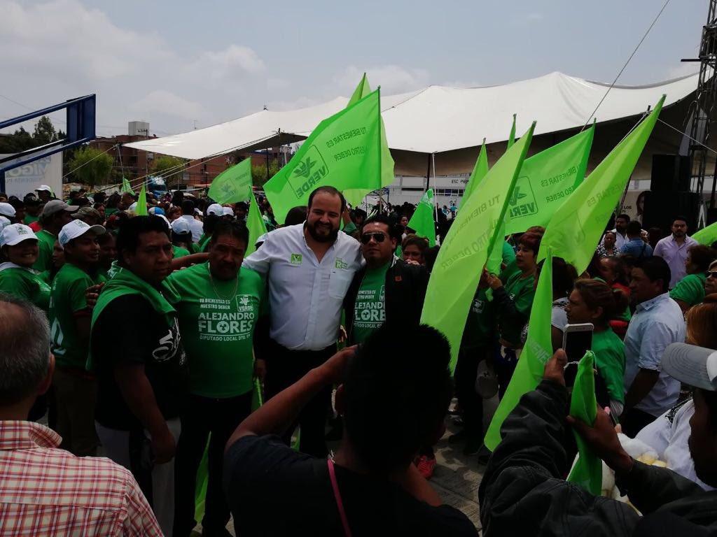 Candidatos a diputados del Verde refuerzan campañas al sur de Puebla