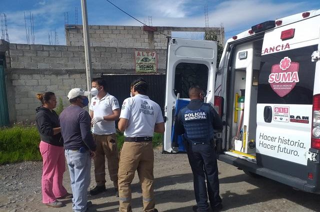 En intento de asalto balean a joven en colonia de Puebla en Jardines de San Juan Bosco