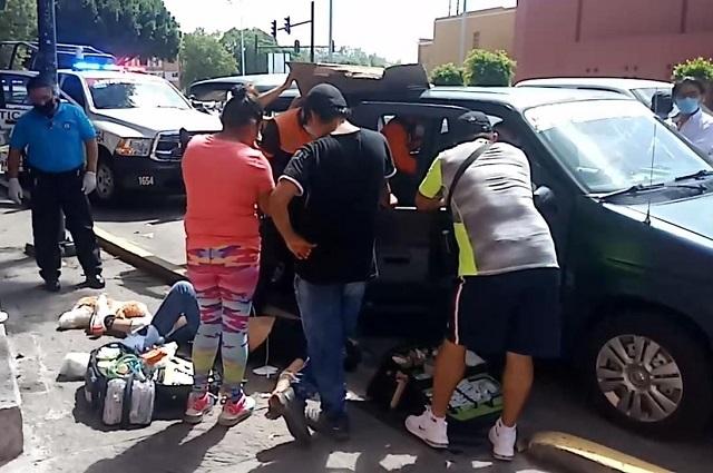 Accidentes de tránsito dejan 4 heridos, en Puebla capital