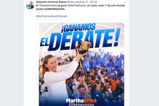 Con guión, proclaman a Martha Erika ganadora del debate