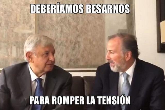¡Llegaron los memes de la reunión de Meade con López Obrador!