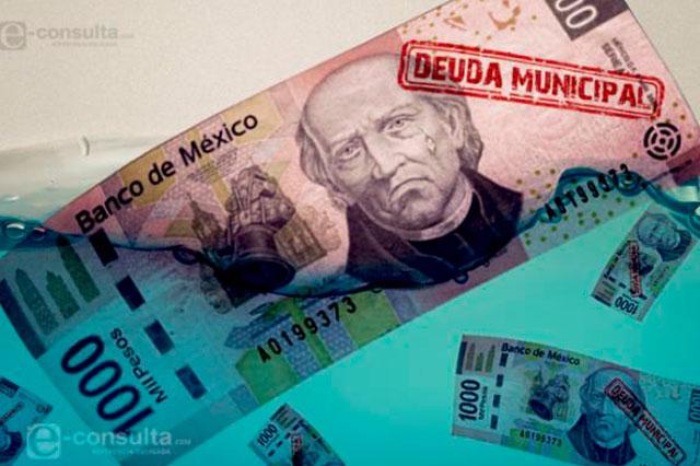Hasta 208% elevan municipios su deuda en el último año