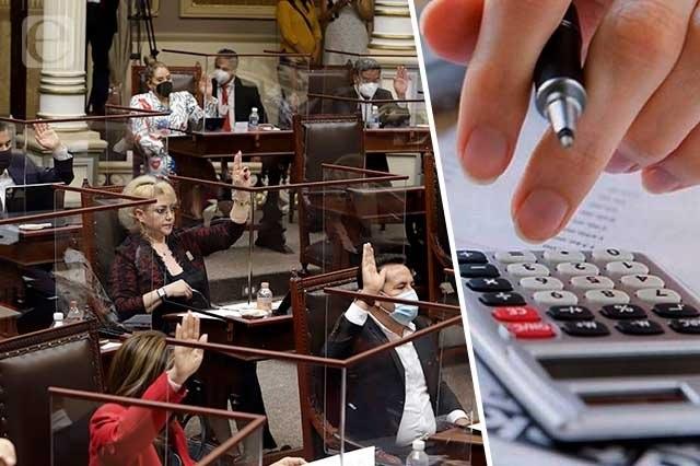 Sin transparentar sus bienes se van los diputados locales