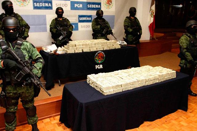 Decomisa el ejército en Sinaloa drogas y armas por 23 mdp