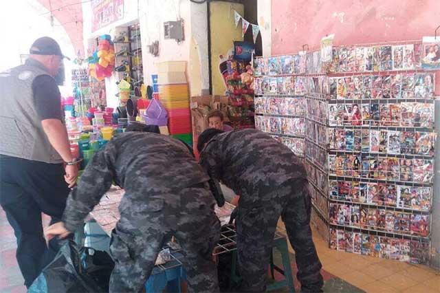 PGR Puebla decomisa cinco mil 500 piezas de piratería en Chietla