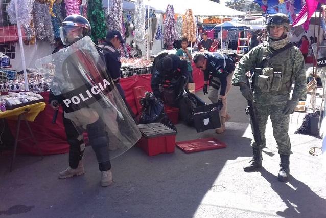 Decomisan cohetes en Puebla y Esperanza previo a Navidad