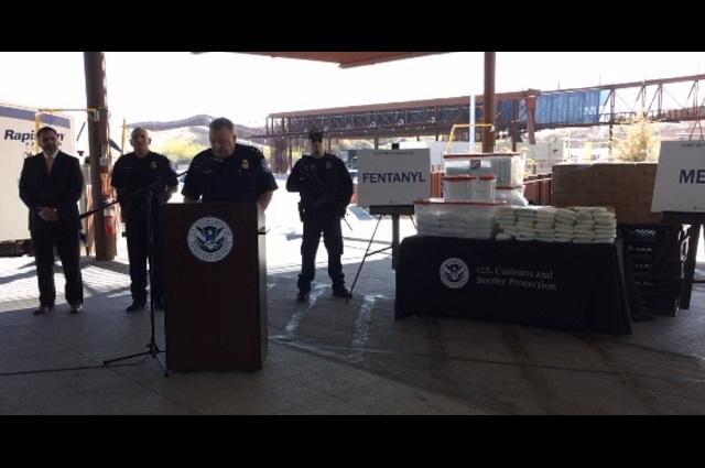 EU decomisa 114 kilos de fentanilo en la frontera con México