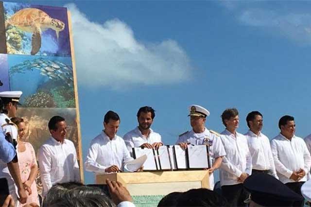 Peña Nieto firma decretos para proteger 4 áreas naturales del país