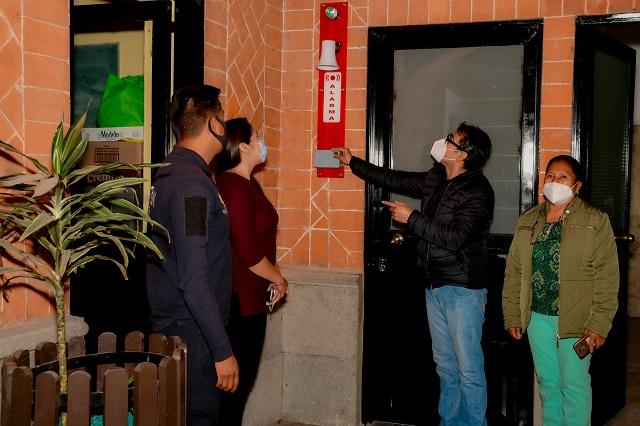 Supervisan Refugios Temporales en Cuautlancingo