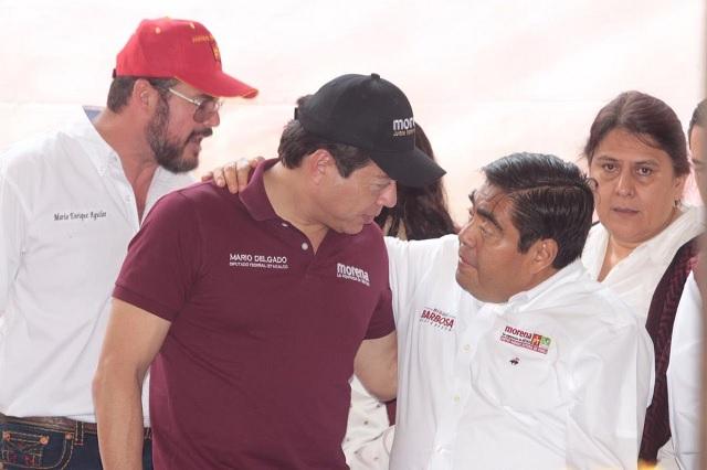 Delgado pide superar conflictos internos para ganar en Puebla