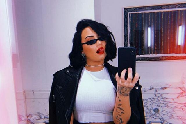 Foto: Demi Lovato estrena nuevo tatuaje en el cuello