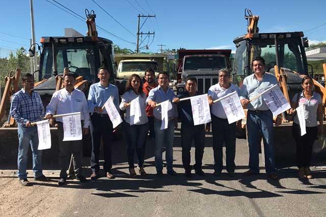 Inician demolición de inmuebles dañados en Chiautla de Tapia