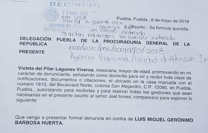 Denuncia Lagunes a Barbosa en PGR por usurpación de profesión
