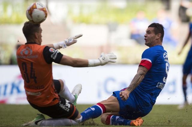 Con todo y uniformes nuevos, Club Puebla recibe goleada de Cruz Azul