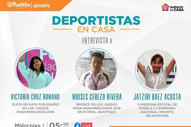 Deportistas de Becas Municipales compartirán experiencias en línea