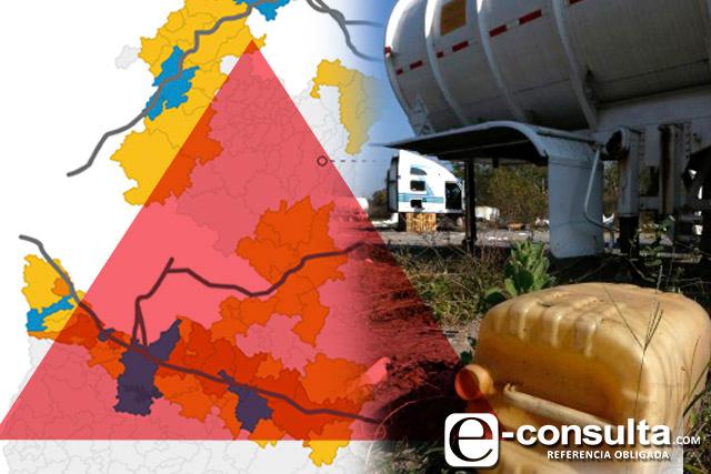 Derrames de huachicol dañan 30% de tierras de cultivo en Puebla
