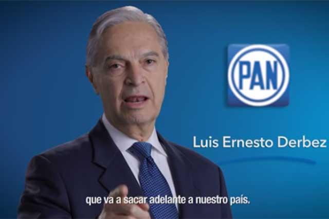 Incluyen a Derbez en primer spot de presidenciables del PAN