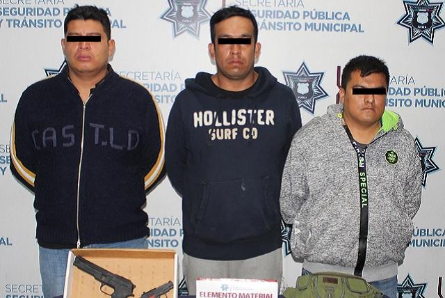 Capturan a sujetos armados y con droga en el Mercado Unión