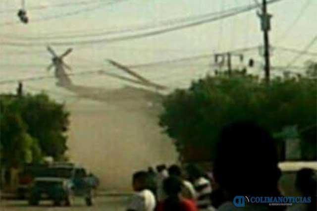 Sicarios derriban en Michoacán un helicóptero con un proyectil y mueren 4 policías