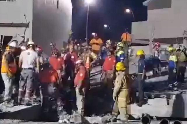 Plaza que se derrumbó en Monterrey no tenía permisos, dice vicefiscal