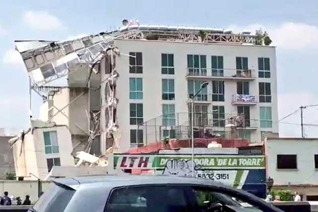 Denuncian a constructoras de 2 edificios que se derrumbaron en la Benito Juárez