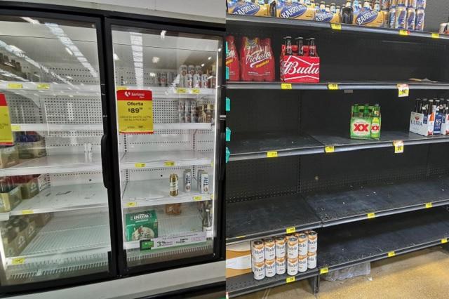 Compras de pánico azotan Monterrey y abarrotan supermercados para conseguir alcohol