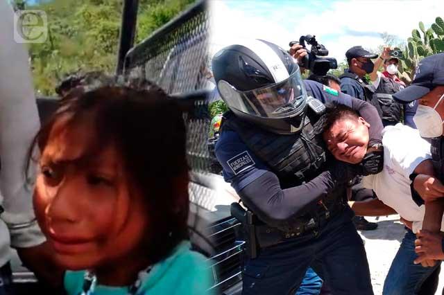 Detienen a menor de 9 años en desalojo del relleno en Tehuacán