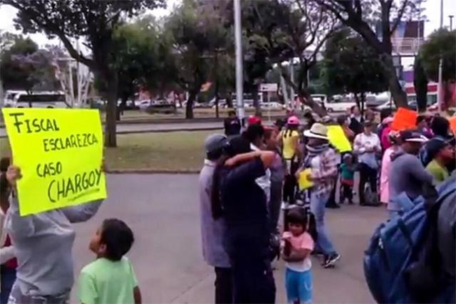 Protestan frente a la Fiscalía por desalojo en Villas Periférico