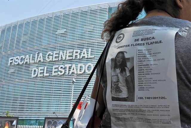 Familiares de desaparecida en Chachapa se manifiestan ante FGE