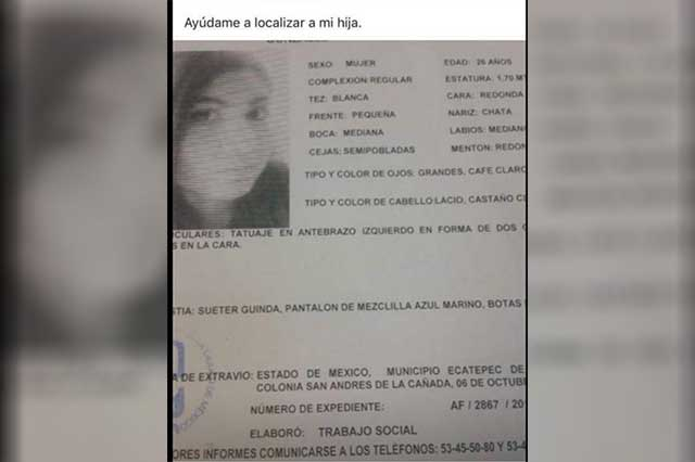 Encuentran muerta dentro de un clóset a joven reportada como desaparecida
