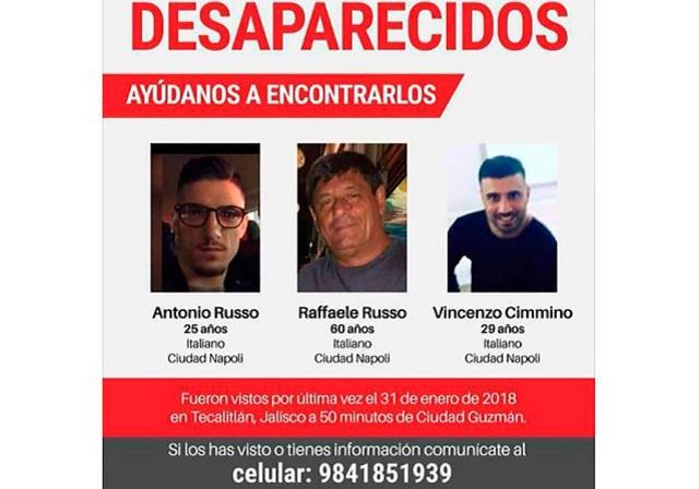 Denuncian que policías vendieron a italianos desaparecidos por 43 euros