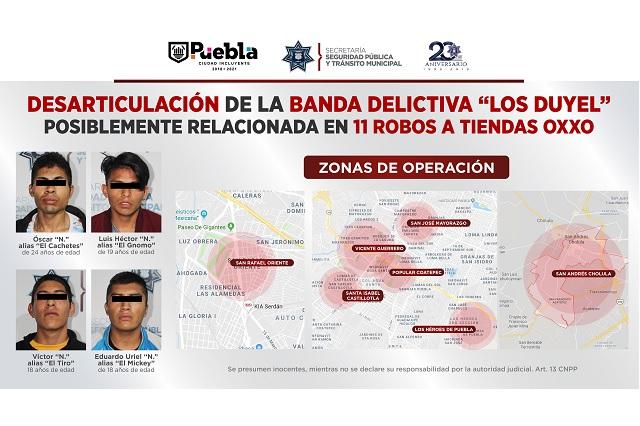 Cae banda Los Duyel, asaltantes de tiendas Oxxo en sur de Puebla