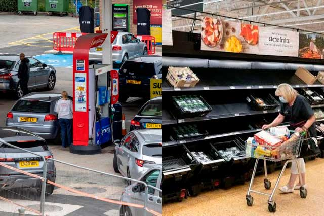 Por compras de pánico, desabasto de gasolina en Reino Unido
