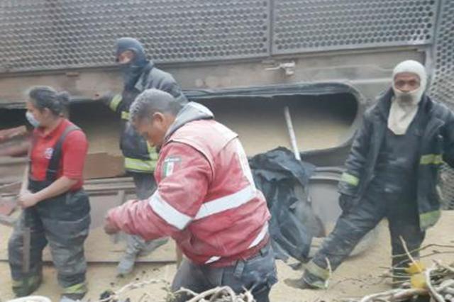 Descarrila tren en Ecatepec, hay cinco muertos