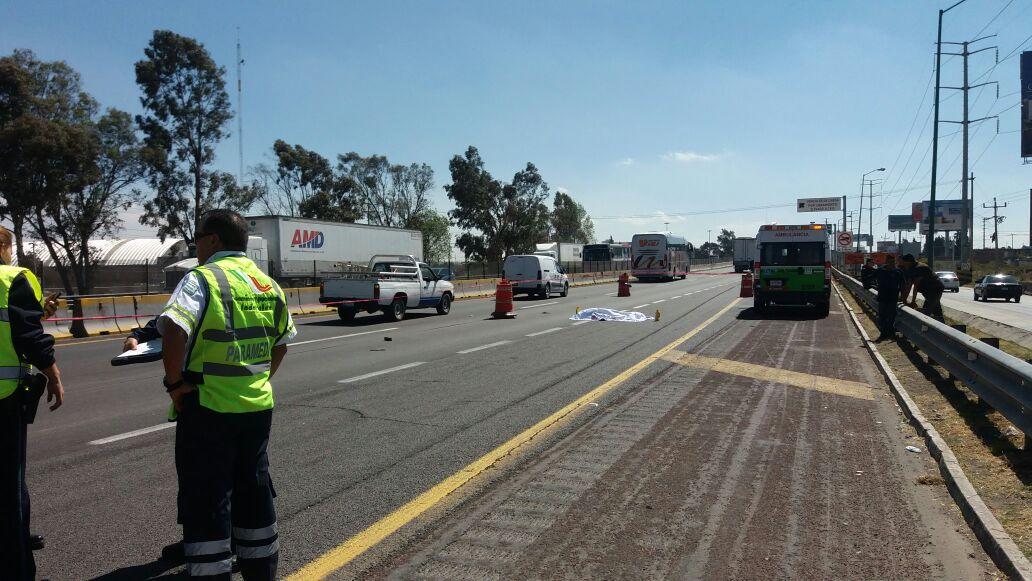 Atropellado, muere hombre en la autopista México- Puebla