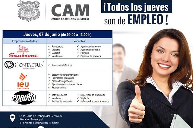 Los jueves son de empleo en Puebla, programa del ayuntamiento capitalino