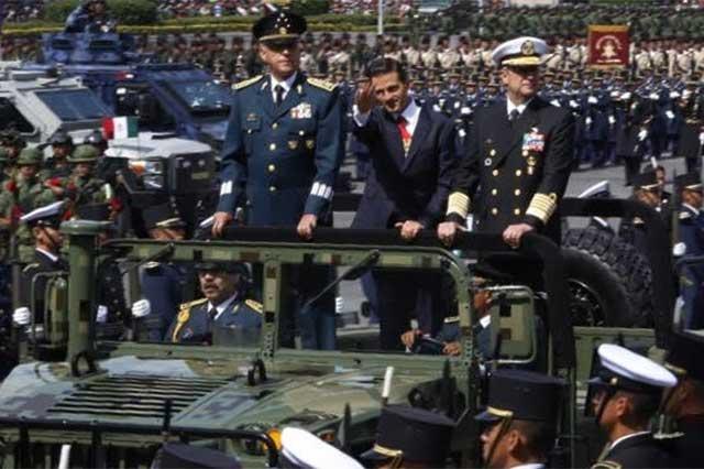 En el zócalo de la CDMX se llevó a cabo el desfile de la Independencia