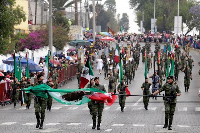 Presencia militar en el desfile: 2 mil elementos y 150 vehículos